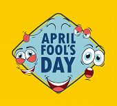 stock photo of fool  - fools day design - JPG