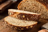 image of whole-wheat  - Organic Homemade Whole Wheat Bread Ready to Eat - JPG