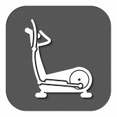 pic of elliptical  - The elliptical trainer icon - JPG