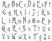 picture of cobweb  - Halloween cobweb alphabet collection isolated on white - JPG