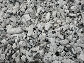 stock photo of ashes  - Ash from burned brushwood after barbeque party - JPG