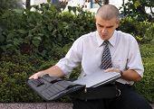 Outdoor Computer Work poster