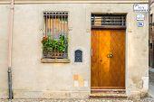 image of ferrara  - Beautiful architecture in the downtown of Ferrara  - JPG