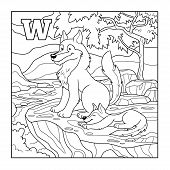 picture of wolf-dog  - Coloring book  - JPG