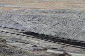 pic of open-pit mine  - Coal mining in an open pit  - JPG