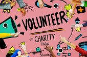 pic of charity relief work  - Volunteer Charity Help Sharing Giving Donate Assisting Concept - JPG
