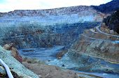 pic of open-pit mine  - Open pit gold mine in Rosia Montana Romania - JPG
