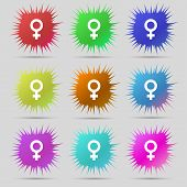 pic of gender  - Symbols gender Female Woman sex icon sign - JPG