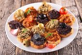 foto of canapes  - buffet food - JPG