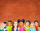pic of innocent  - Diversity Children Friendship Innocence Smiling Concept - JPG