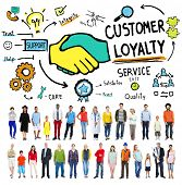 picture of loyalty  - Customer Loyalty Satisfaction Support Strategy Service Concept - JPG
