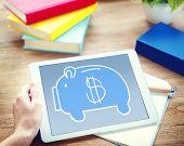 image of economizer  - Piggy Bank Saving Money Economize Profit Concept - JPG