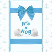 stock photo of announcement  - Its a boy - JPG