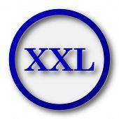 stock photo of xxl  - XXL icon - JPG