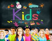picture of handwriting  - KIds Imagination Handwriting Create Drawing Concept - JPG