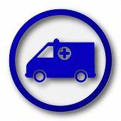 stock photo of ambulance  - Ambulance icon - JPG