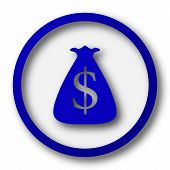 pic of sack dollar  - Dollar sack icon - JPG
