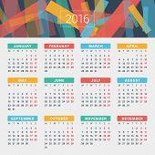 picture of monday  - Calendar 2016 Vector Design Template - JPG