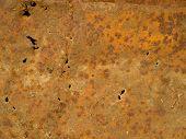 image of dump  - Rusty metal sheet metal at the dump - JPG