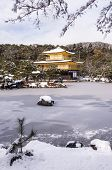 pic of shogun  - Zen temple during winter and snow time in japan - JPG
