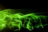 Abstract Background Shape - Green Smoke
