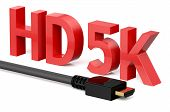 stock photo of megapixel  - HD 5K concept isolated on white background - JPG