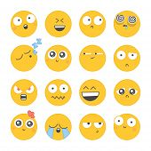 foto of angry smiley  - Set of smiley icons with different face - JPG
