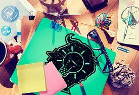 foto of creativity  - Idea Creative Creativity Imagination Innovate Thinking Concept - JPG