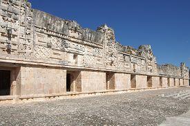 foto of quadrangles  - Ruins of the Nunnery Quadrangle Uxmal Mexico - JPG
