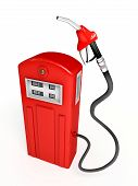 Red Gasoline Pump