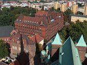 Panoramic View On Medieval, Brick Buildings