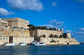 stock photo of olden days  - View of old Valletta and Grand Harbour - JPG