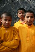Cheerful Students at Devghat, Nepal.