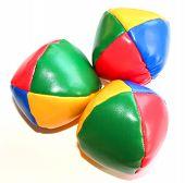 Three Colorful Juggling Balls