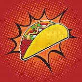 Постер, плакат: Taco fast food