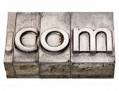 Dot Com - Internet Domain In Letterpress Type