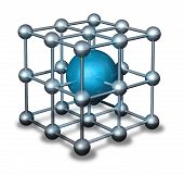 Blue Nanoparticle Atom