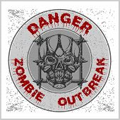 Poster Zombie Outbreak. poster