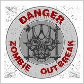 Постер, плакат: Poster Zombie Outbreak