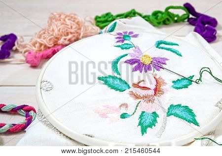 Embroidery Flowers Sewing