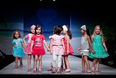 VALENCIA, SPAIN - JULY 1: Unidentified child models walk the runway at the FIMI Children's Summer Fa
