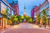 Burlington, Vermont, USA at Church Street Marketplace. poster