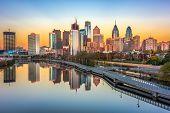 Philadelphia, Pennsylvania, USA downtown skyline. poster