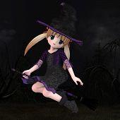 Little Hallowen Witch 01