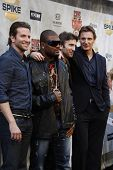LOS ANGELES - JUN 5: Bradley Cooper, Quinton Jackson, Sharlto Copley, Liam Neeson at the Spike TV's