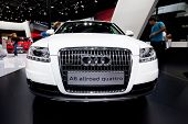 Moscow, Russia - August 25: White Car Audi A6 Allroad At Moscow International Exhibition Interauto O