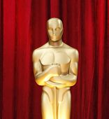 LOS ANGELES - 22 FEB: Oscar standbeeld in de press room op de Oscars gehouden in het Kodak Theater in Los