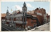 NEW YORK CITY â?? CIRCA 1912: Vintage postcard depicting The Hippodrome, built in 1905 & demolished in 1939 after its decline & fall, New York City, USA, circa 1912.