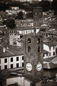 Lucca clock tower viewed from above in Italy. poster