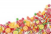Bombón de frutas coloridas